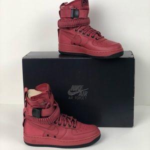 Nike SF AF1 High Top Black / Red 6.5